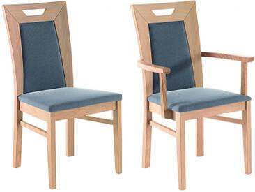 Dkk Klose Kollektion 4-friends Stuhlsystem Polsterstuhl mit geschlossenem Rückenpolster und Griff Stuhl für Speisezimmer Esszimmerstuhl Ausführung Sitzkomfort Bezug und Holzausführung wählbar