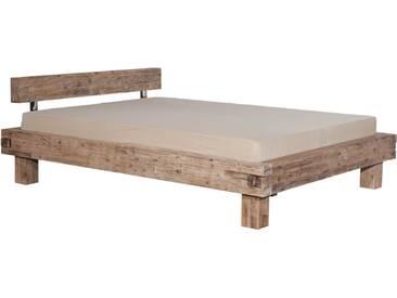Neue Modular Punto Namur Bett aus Massivholz in Akazie mit besonderen Verfahren sandgestrahlt und gebeizt Liegefläche ca. 180x200 cm