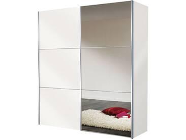 Nolte Express Möbel Bianco Schwebetürenschrank Korpus und Front in Weiß mit Teilspiegel senkrecht und Dekor Breite wählbar
