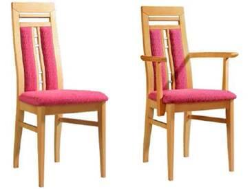 Dkk Klose Kollektion Cristal Stuhlsystem Polsterstuhl mit Griffleiste und geteiltem Rückenpolster für Speisezimmer Esszimmerstuhl Ausführung Sitzkomfort Bezug und Holzausführung wählbar