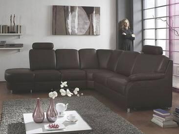 Polinova Ecksofa Tavira L Anstellhocker 2-Sitzer Eckelement 2,5-Sitzer inklusive 2 Kopfstützen in Echtleder Couch spiegelverkehrt lieferbar Ausführung wählbar