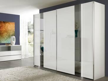 Nolte Arago 5 Schwebetürenschrank Kleiderschrank Polarweiß und Weißglas mit Glasstreifen wählbar