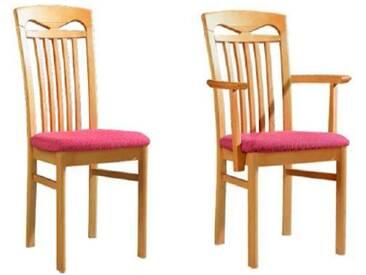 Dkk Klose Kollektion Cristal Stuhlsystem Polsterstuhl mit Sprossen-Rückenlehne für Speisezimmer Esszimmerstuhl Ausführung Sitzkomfort Bezug und Holzausführung wählbar