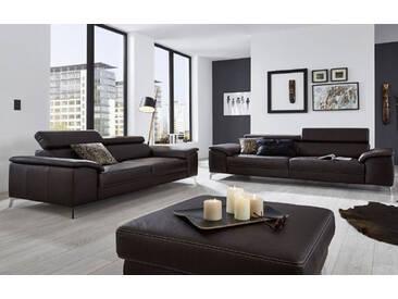 Candy Einzelsofa Colano 3-Sitzer 2,5-Sitzer Couch für Wohnzimmer in Stoff oder Leder Ausführung wählbar
