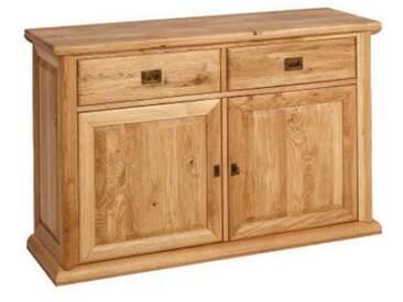 Dkk Klose Kollektion K1 Sideboard 2-teilig Wildeiche Massivholz in verschieden Beiztönen für Wohnzimmer oder Esszimmer mit Schubkästen und Türen