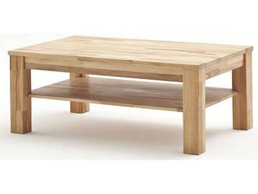 MCA Furniture Couchtisch Paul 58702 Kernbuche geölt und gewachst rechteckig 105x65 cm Massivholz keilverzinkt mit Ablageplatte
