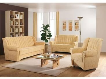 Dietsch Polstermöbel Bern Polstergarnitur 3-teilig Sofa 3-Sitzer, 2-Sitzer und Sessel - Stoffgruppe und Sitzhöhe wählbar