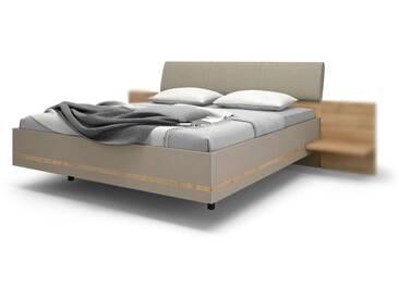 Nolte Möbel concept me 500 Bett Ausführung 1 Bettrahmen eckig mit Dekoreinlage umlaufend Kopfteile und Füße wählbar Einzel- oder Doppelbett