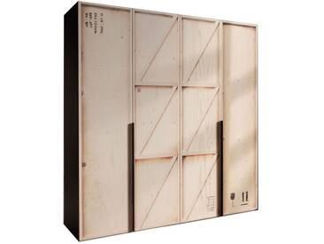 Nolte Express Möbel Caja Drehtürenschrank mit Digitaldruck Motiv Kiste Schrankbreite wählbar