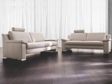 Carina Choice Polstergarnitur aus 3-Sitzer und 2,5-Sitzer in Stoff- oder Echtleder wählbar