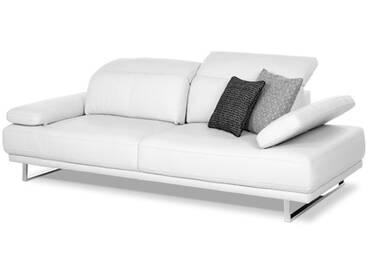Willi Schillig Einzelsofa Shadoow 25258 weißes Einzelsofa Type NL75 in Leder LK 50 Z73_43 inklusive Sitztiefenverstellung flexible Seitenteile & Kopfteile