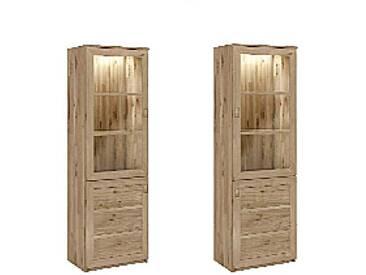 Dkk Klose Kollektion K28 Vitrine eintürig Kastenmöbel massiv Beimöbel für Esszimmer Beleuchtung und Ausführung wählbar