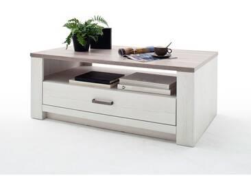 MCA furniture Couchtisch Bozen in Pinie Aurello Nachbildung und Tischplatte Eiche Nelson Nachbildung