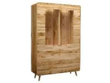 Dkk Klose Kollektion K34 Kastenmöbel Vitrine 2tlg. Schrank 342616 für Wohnzimmer oder Esszimmer Beleuchtung und Ausführung wählbar