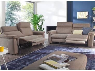 Carina 3605 Garnitur aus 3-Sitzer und 2-Sitzer im braunen Microfaserbezug