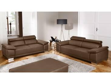 Candy London Sofagarnitur Sofa 2-Sitzer und 3-Sitzer Polstergarnitur Couch für Wohnzimmer Sofa in Bezug Stoff oder Leder wählbar Einzelsofa optional mit Funktion