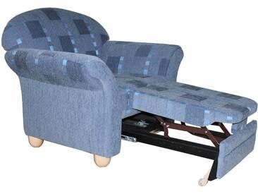 ponsel WALLIS Sessel 74 mit ausziehbarer Fußstütze und Federkern, Bezug Füße und Armteilverstellung wählbar