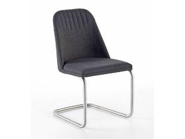 MCA furniture Elara Stuhl EASE31GX 2er-Set erhältlich mit Schwinger Rundrohrgestell Bezug Feingewebe grau Polsterstuhl für Ihr Esszimmer
