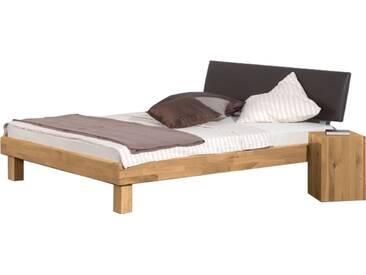 Neue Modular Primolar Bett Mondovi mit Kopfteil Oledo und Füße Natura Liegefläche 180x200 cm optional mit Hocker