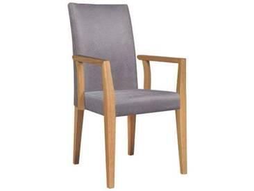Dkk Klose Kollektion Sessel Smile :-) Stuhl mit Armlehnen Modell B Polsterstuhlsystem für Speisezimmer Esszimmerstuhl Sitzkomfort Bezug Ausführung der Armlehnen und Holzausführung wählbar