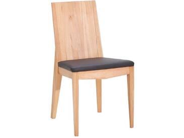 Dkk Klose Kollektion Stuhl S16 massiver Holzstuhl 7390 für Esszimmer mit festem Schaumstoffpolster im Sitz in vier Hölzern und verschiedenen Beiztönen sowie in hochwertigen Bezügen wählbar