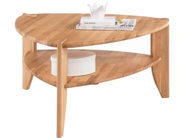 MCA Furniture Couchtisch Theo 58813KB2 aus Kernbuche Massivholz geölt durchgehende Lamelle bei Tischplatte und Stollen für Ihr Wohnbereich