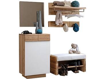 Voglauer V Montana Dielenvorschlag 14 mit Kommode Spiegel Garderobenbank und Garderobenpaneelen Garderobenmöbel mit oder ohne Beleuchtung wählbar