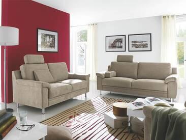 Carina Cora/1050 klassische Garnitur aus 3-Sitzer, 2-Sitzer und Sessel in beige