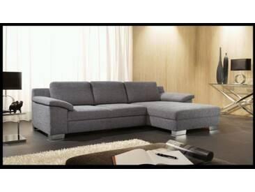 Candy Hollywood Sofagarnitur Ecksofa 2-Sitzer und Longchair Polstergarnitur Couch für Wohnzimmer Sofa in Bezug Stoff oder Leder wählbar optional Schlaffunktion