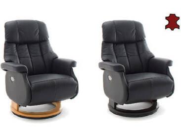 MCA furniture Calgary Relaxsessel XL Comfort elektrisch 64037 Relaxer Leder/PVC Gestell und Drehteller aus Formholz