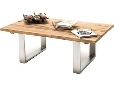 MCA Furniture Couchtisch Sandro 58770EIA aus Asteiche Edelstahl Optik gebürstet für Ihr Wohnzimmer