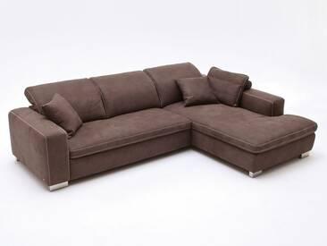 Candy Lakewood Ecksofa Sofagarnitur Sofa 2-Sitzer und Ottomane Polstergarnitur Couch für Wohnzimmer Sofa in Bezug Stoff oder Leder wählbar ohne Funktion