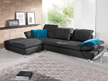 Schillig Willi Ecksofa Taoo 15278, bestehend aus Sofa groß + Longchair mit Doppelseitenteil, integrierte Sitztiefenverstellung, weitere Funktionen und Bezug wählbar