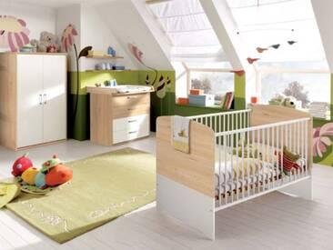 Priess Achat for Kids Babybett Kleiderschrank 2-türig Wickelkommode mit 4 Schubkästen optional wählbar Steckboard