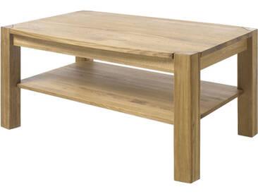 MCA Furniture Couchtisch Kalipso 58783AE2 aus Asteiche Massivholz geölt durchgehende Lamelle bei Tischplatte und Stollen für Ihr Wohnzimmer