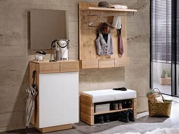 Voglauer  Dielenvorschlag 21 V-Montana mit Kommode Spiegel Garderobenbank und Garderobenpaneel Garderobenmöbel mit oder ohne Beleuchtung wählbar