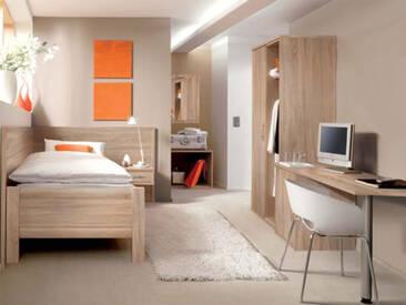 Priess Objekträume Jugendzimmer bestehend aus Bett 90x200 cm 1-türigen Kleiderschrank Nachtschrank weitere Beimöbel optional wählbar