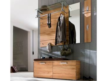 Wittenbreder Massello 630 Spiegel für Flur mit Garderoben Paneelen 710 / 730 und Garderoben Bank 545 in Kernbuche teilmassiv
