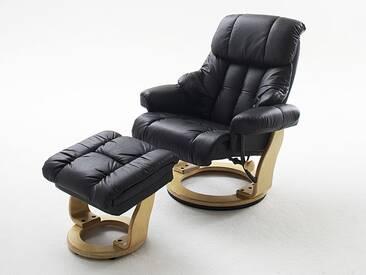 MCA furniture Calgary Relaxsessel 64023 Relaxer aus Leder/PVC incl. Hocker Gestell und Drehteller