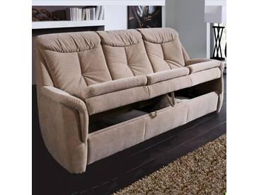Dietsch Varianta Troja Kipper Kippcouch 3 Sitzer Sofa mit Kippfunktion Bezug Stoff oder Leder wählbar
