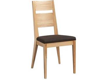 Dkk Klose Kollektion Stuhl S23  Polsterstuhl mit Holzrücken für Küche oder Speisezimmer in verschiedenen Beiztönen und Bezugsarten wählbar