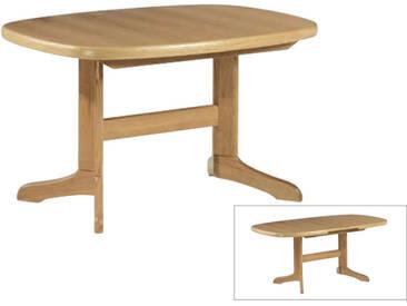 Dkk Klose Kollektion Säulentisch mit Synchronauszug und ovaler Platte ca. 130 x 95 cm Tisch 3408 und 3448 ovaler Esstisch mit Funktion für Wohnzimmer und Esszimmer Farbton wählbar