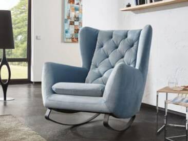 Candy Wohnlandschaft Schaukelstuhl Schaukelsessel Sessel Sixty für Wohnzimmer Bezug Stoff oder Leder wählbar