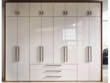 Nolte Horizont 8000 Drehtürenschrank mit Aufsatzschränken in verschiedenen Dekoren oder Hochglanz wählbar 16-türig mit 3 Schubkästen