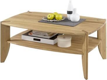 MCA Furniture Couchtisch Tamme 58818AE2 aus Asteiche massiv Ablage massiv geölt Stollen massiv geölt für Ihr Wohnzimmer