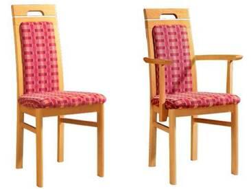 Dkk Klose Kollektion Cristal Stuhlsystem Polsterstuhl mit geschlossenem Polsterrücken für Speisezimmer Esszimmerstuhl Ausführung Sitzkomfort Bezug und Holzausführung wählbar