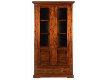 Habufa Pradesh in sierrabraun Vitrine 2 Tür mit Glaseinsatz und 1 Schubladen  für Ihr Wohnzimmer oder Esszimmer