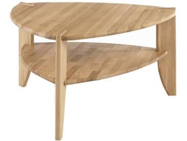 MCA Furniture Couchtisch Theo 58813AE2 aus Asteiche Massivholz geölt durchgehende Lamelle bei Tischplatte und Stollen für Ihr Wohnbereich