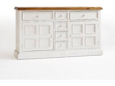 MCA Sideboard Bodde FH302003 Ausführung Massivholz recycle Kiefer weiß/ honigfarbig für Wohnzimmer Speisezimmer Furniture