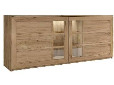 Dkk Klose Kollektion K28 Sideboard 2-teilig Kastenmöbel massiv Beimöbel für Esszimmer Beleuchtung und Ausführung wählbar